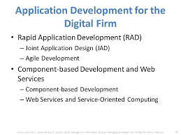 Application development for the digital firm