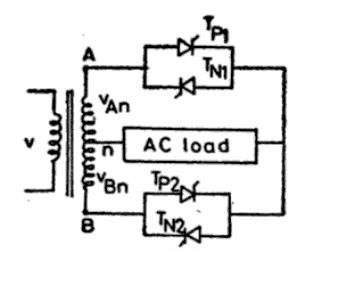 Principle of Operation of Single Phase Cyclo-converter And Step-up And Step-Down Single Phase Controller