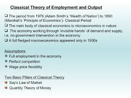 Classical Theory of Output and Employment