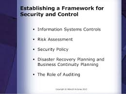 Establishing a framework for security and control