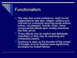 Functionalism: basic assumptions