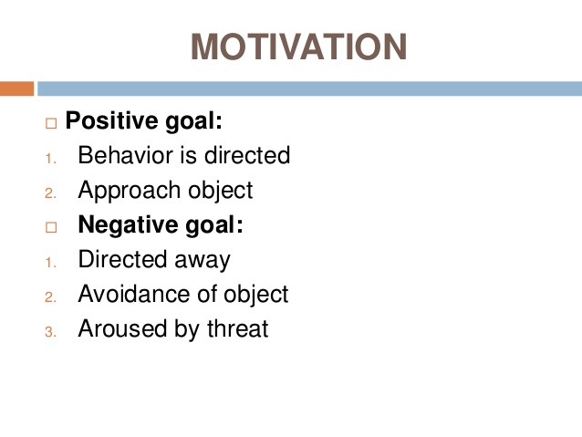 Positive & Negative motivation & Maslow's Need hierarchy theory