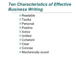 Principle of Clear Business Writing 5