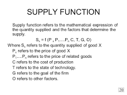 Supply Function