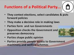 Political Parties and Their Roles
