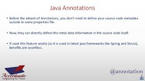 Annotation and its Types