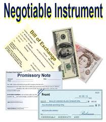 Meaning and Feature of negotiable instrument, bills of payment, and cheque