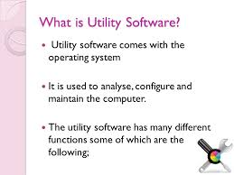 Introduction of Utility Software