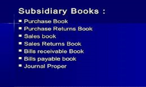 Types of Subsidiary Book