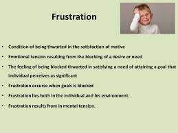 Concept and Causes of Frustration