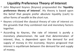 Liquidity Preference Theory of Interest