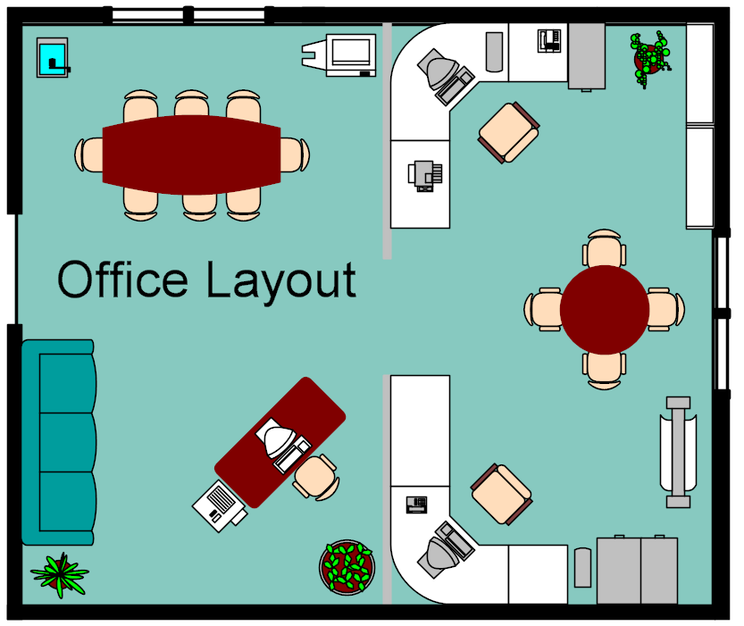 Objective and importance of office layout for Office layout design online
