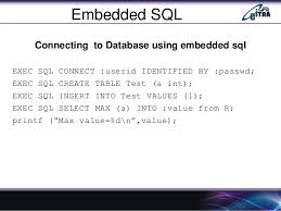 Embedded SQL with the programs