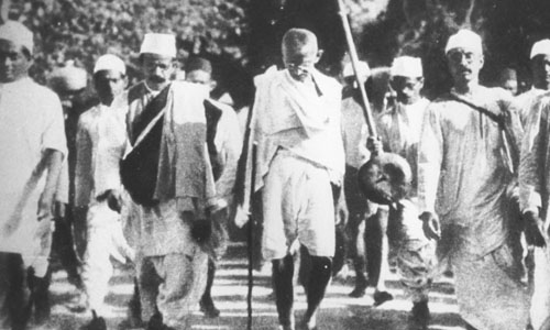 Indian movement for Independence and Leadership of Mahatma Gandhi
