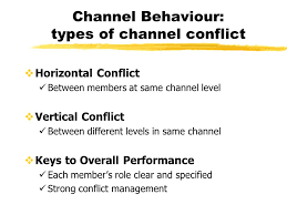 Channel Behaviour, Channel Conflict and Its Resolution