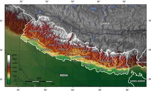 Geographical Location and border of Nepal