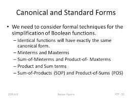 Standard and Canonical Form