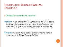 Principle of Clear Business Writing 4