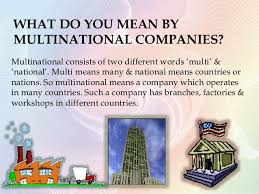 Sourcing and Multinational companies