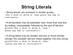 String Handling And its Operations