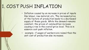 Inflation: Cost-pull inflation, Deflation, Stagflation