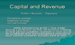 Concept of Capital and Revenue