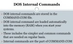 Internal Commands