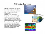 Climatic factors; Humidity and Wind