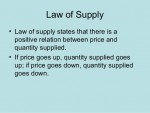 Supply and Law of Supply
