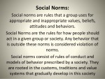 Importance of Social Values and Norms