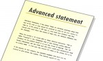 Statement of Advance, Revenue and Security Deposit
