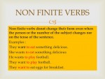Verbs: Non-finite Forms