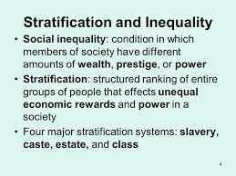 Theories and dimension of social stratification and social inequality