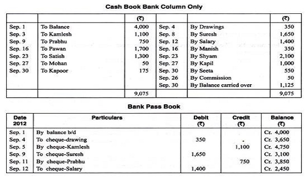 Pass Book and Cash Book