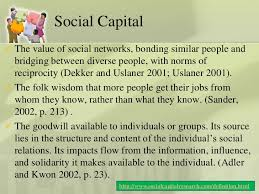 Dynamics of social capital