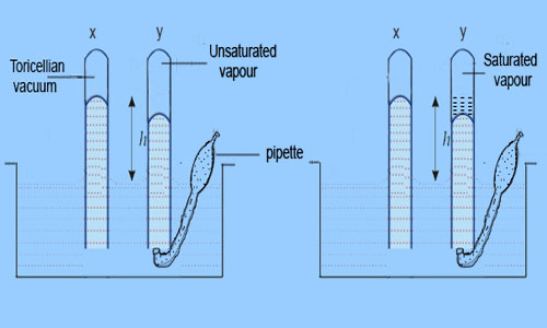 Variation with Vapour Pressure with Volume