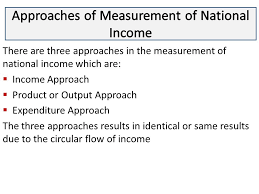 Three approaches of Measurement of National Income and Its Measurement Difficulties