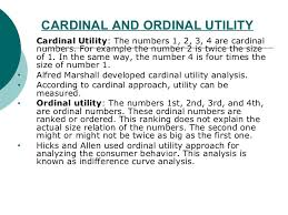 Cardinal vs Ordinal utility and Marginal Rate of Substitution