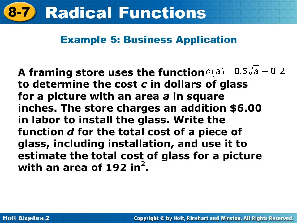 application of function in business and management