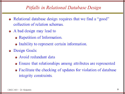 Pitfalls in the relational database