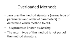 Overloading methods and Using Objects As Parameter