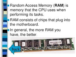 RAM and its uses