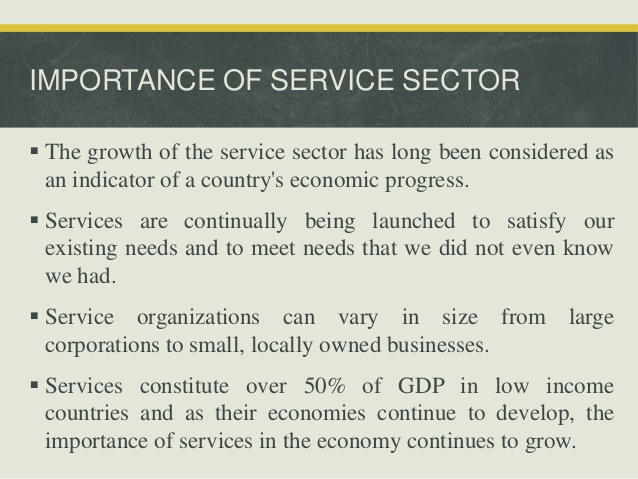 Source: www.slideshare.net Fig: Important of Service