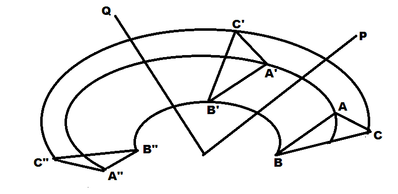 combination of two reflection over intersecting lines