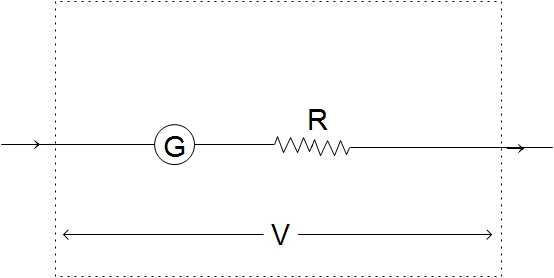 how to connect galvanometer in a circuit