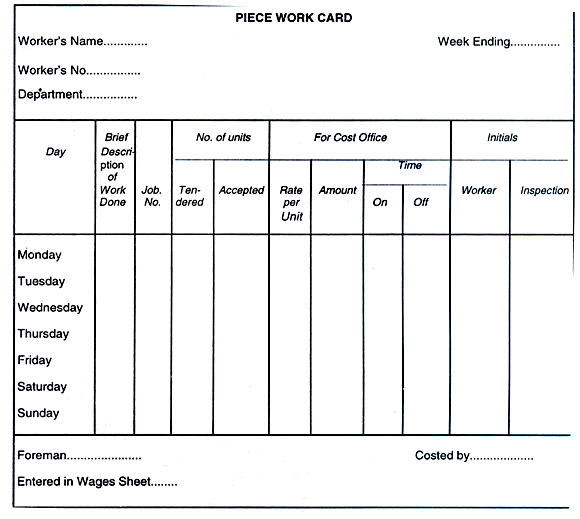notes on department involved in labor cost control and