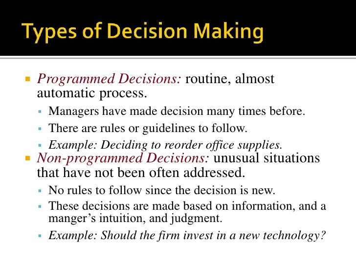 chapter1 exercise for managerial decision modeling Chapter 1 introduction to managerial decision modeling  solutions to discussion questions 1-1 decision modeling is the  scientific.