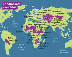 source :geography.name Fig : Landlock countries