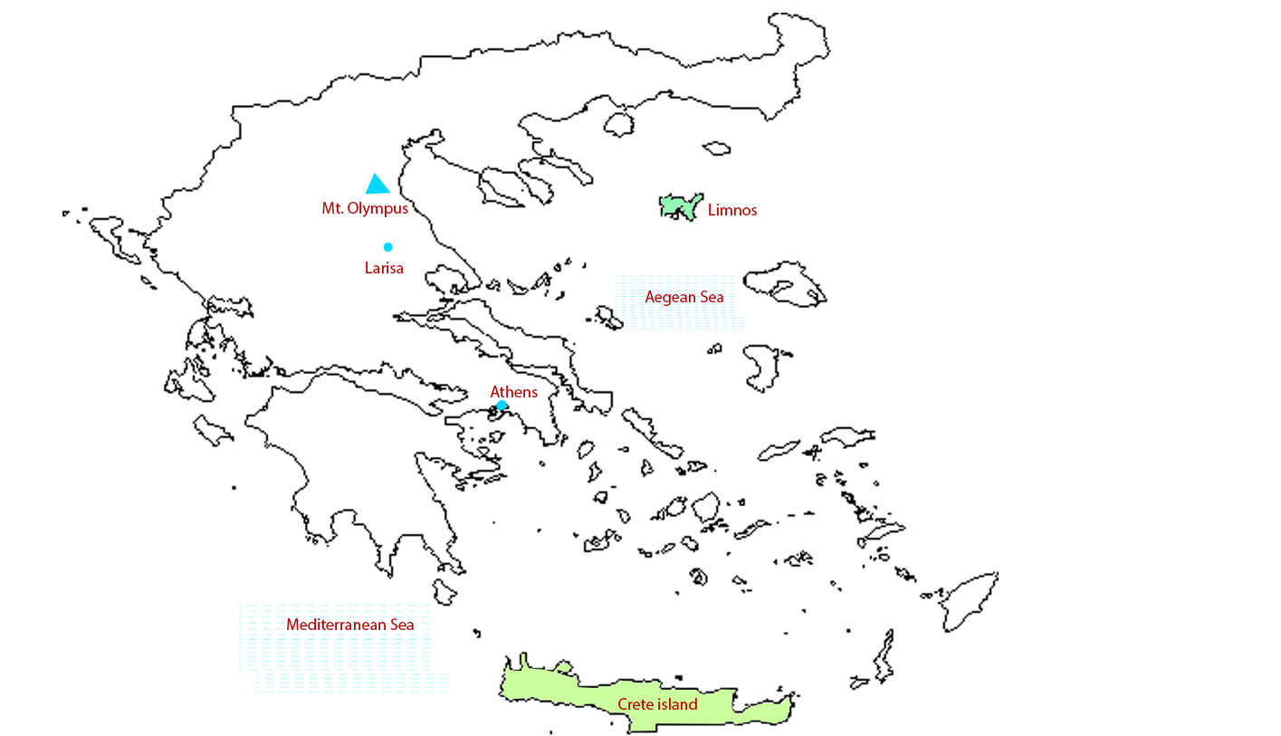 Map of Greek