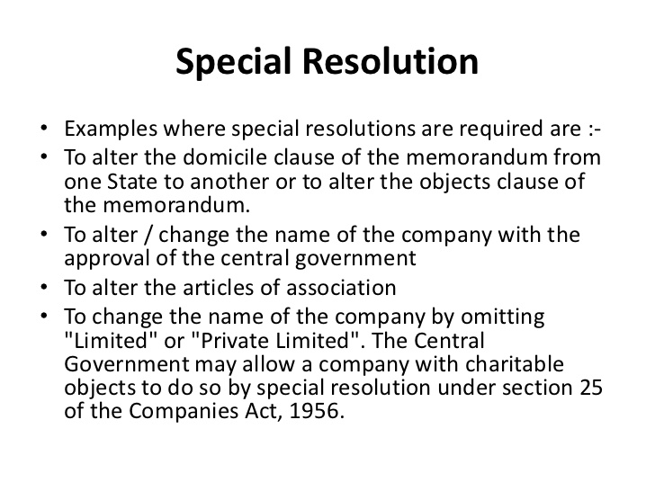 Special Resolution